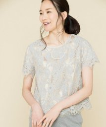JIYU-KU /【マガジン掲載】リバーレース 半袖プルオーバー(検索番号F43)/500876121
