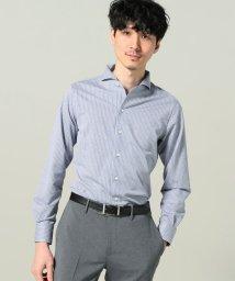 EDIFICE/ストライプジャージー ワンピースカラーシャツ/500876455