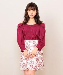 MIIA/転写プリントレース台形スカート/500877019