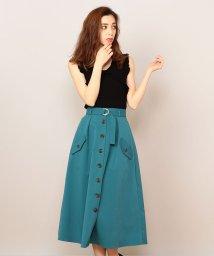 MIIA/ロングフレアトレンチスカート/500877035