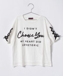 Lovetoxic/袖レースアップTシャツ/500854658