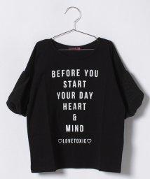 Lovetoxic/袖バルーンチェックTシャツ/500854659