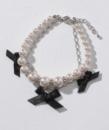 axes femme/パールリボン2連ブレス/500857885