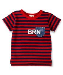 branshes/デニムポケット半袖ボーダーTシャツ/500869334