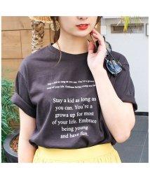 MODE ROBE/メッセージプリントTシャツ/500880291
