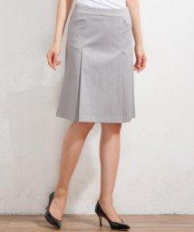 NIJYUSANKU/【セットアップ対応】スーピマシャンブレー ボックスプリーツ スカート/500882319