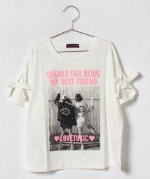 Lovetoxic/袖リボンプリントTシャツ/500854660