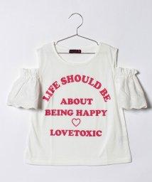 Lovetoxic/レース袖肩開きTシャツ/500854661