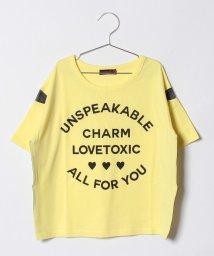 Lovetoxic/切り替えメッシュロゴTシャツ/500854663