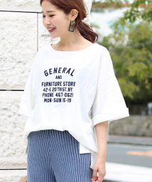 Bou Jeloud/強撚コットンロゴ刺繍BIGTシャツ/500859745