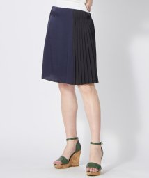 LANVIN en Bleu/バイカラープリーツスカート/LB0004927