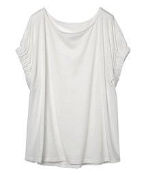 Ranan/袖ギャザーデザインTシャツ/500840713