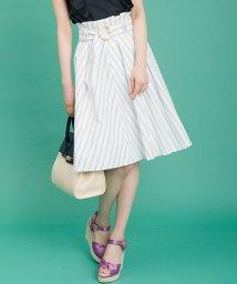 31 Sons de mode/【美人百花5月号掲載】ベルト付きストライプタイプライタースカート/500883949