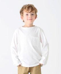 こどもビームス/こどもビームス / 天竺 ロング スリーブ ポケット Tシャツ (ユニセックス 80~140cm)/500885418