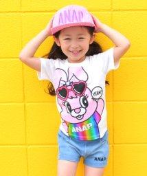 ANAP KIDS/レインボー箔プリントキャラクターTシャツ/500878160