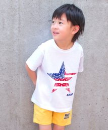 ANAP KIDS/ペイズリー星プリントビッグTシャツ/500878161