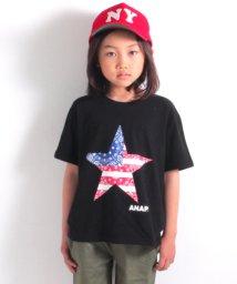 ANAP KIDS/ペイズリー星プリントビッグTシャツ/500878161