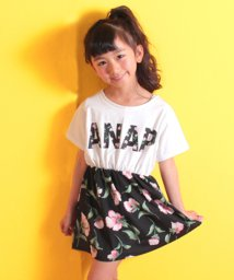 ANAP KIDS/花柄切替ワンピース/500878162
