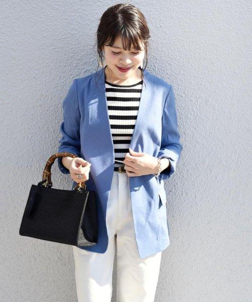SHIPS WOMEN(シップス ウィメン)/【TVドラマ着用】リネンレーヨン羽織りジャケット/317010869