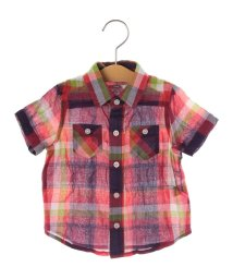 SHIPS KIDS/SHIPS KIDS:シャーリング チェック 半袖 シャツ(80~90cm)/500885989