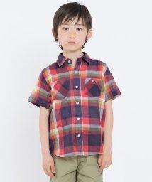 SHIPS KIDS/SHIPS KIDS:シャーリング チェック 半袖 シャツ(100~130cm)/500885990