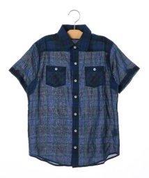 SHIPS KIDS/SHIPS KIDS:シャーリング チェック 半袖 シャツ(145~160cm)/500885991