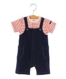 SHIPS KIDS/SHIPS KIDS:フェイク オーバーオール ロンパース/500885998
