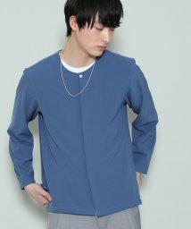 JUNRed/ジョーゼットノーカラーシャツ/500886479