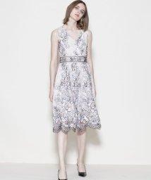 GRACE CONTINENTAL/刺繍ベルトドレス/500887737