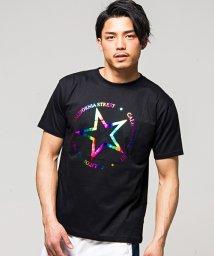 CavariA/CavariA【キャバリア】星柄箔プリントクルーネック半袖Tシャツ/500887840