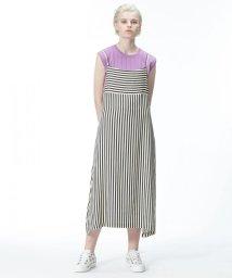 GRACE CONTINENTAL/ストライプジャンパースカート/500888653