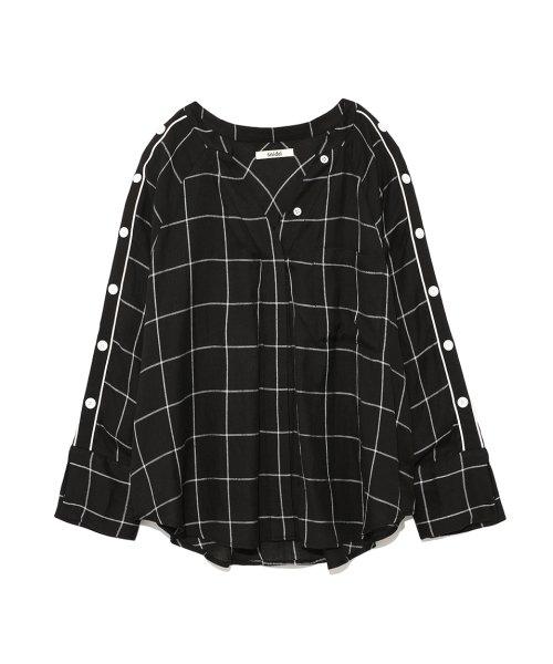 SNIDEL(スナイデル)/サイドボタンチェックシャツ/SWFB182075