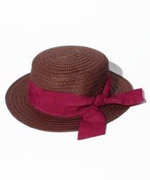 petit main/リボンつきカンカン帽/500878188