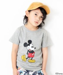 devirock/かすれミッキープリント半袖Tシャツ カットソー/500887803