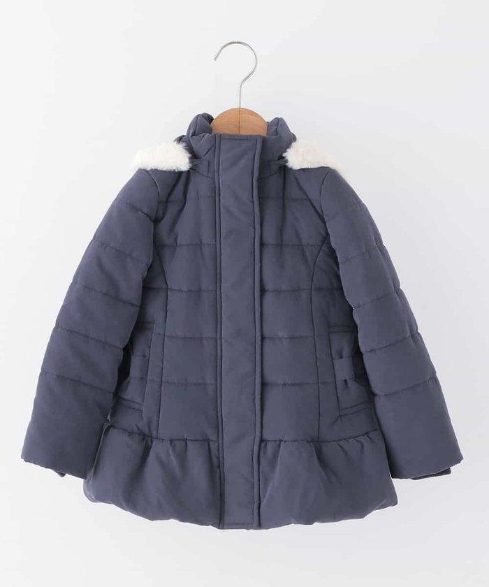 [140−150]フリルデザイン中綿コート