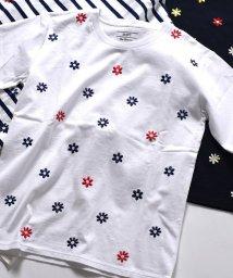 SHIPS MEN/SU: フラワーエンブロイダリー Tシャツ/500890359