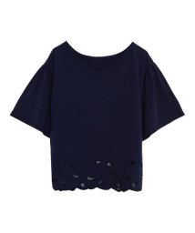Re:EDIT/袖フレア裾レースカットソー/500890995