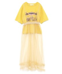 Lily Brown/チュールレイヤードTシャツ/500891033