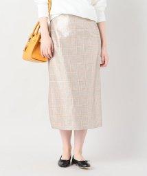 IENA/ブライトチェックタイトスカート/500891198