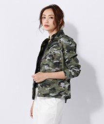 NIJYUSANKU/【洗える】カモフラージュプリント ジャケット/500891561