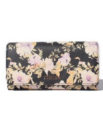 rienda/【rienda】VINTAGE ROSE FLOWER PRINT フラップロングウォレット/500869201