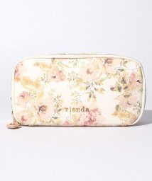 rienda/【rienda】VINTAGE ROSE FLOWER PRINT W ZIPポーチ/500869203