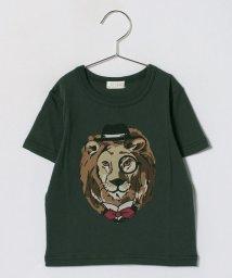 b-ROOM/ライオンプリントTシャツ/500878184