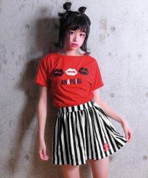 ANAP GiRL/LIPTシャツ&ストライプフレアスカート SET/500884605
