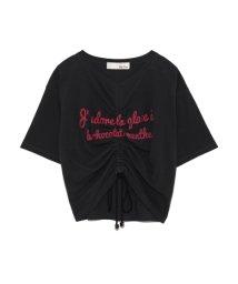 Lily Brown/ドロストクロップドTシャツ/500891578