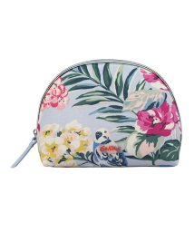 Cath Kidston/ハーフムーン メイクアップバッグ トロピカルガーデン/500878004
