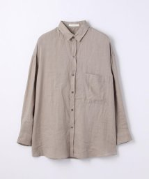 GALERIE VIE/リネン オーバーサイズドシャツ/500894416