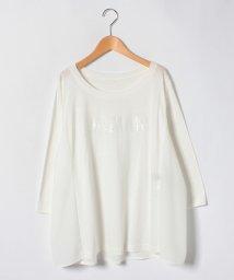 Leilian PLUS HOUSE/【19+】スパンコールロゴTシャツ/500838784