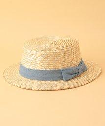 ROPE' PICNIC KIDS/【ROPE' PICNIC KIDS】ストロー×デニムリボンカンカン帽/500894836