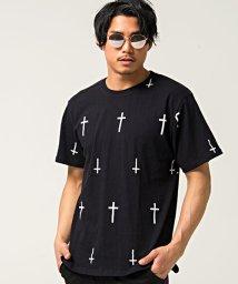 CavariA/CavariA【キャバリア】クロス総柄クルーネック半袖Tシャツ/500897756